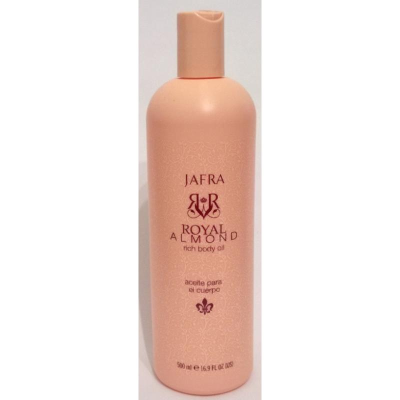JAFRA Royal Almond Rich Body Oil / Amandelolie 500ml: Een lichte maar rijk voedende lichaamsolie met de heerlijke geur van amandelbloesems.